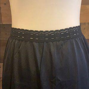 Vintage Intimates & Sleepwear - Vintage black Olga half slip with lace trim